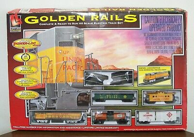 Life Like Golden Rails Complete Ready to Run HO Scale Electric Train Set Tested