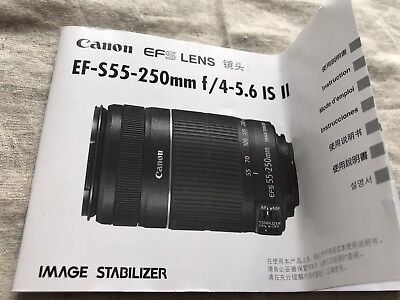 ef-s 55-250mm f 4-5.6 is ii Instruction Manual