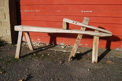 Shave horse woodworking stool bench vice garden ornament wooden Bodger