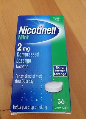 NICOTINELL Mint 1mg / 2mg Compressed Lozenges X 36 ( Choose Strength )