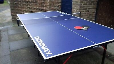 Table Tennis Table Full Size Blue Indoor Outdoor Home Ping Pong Playing