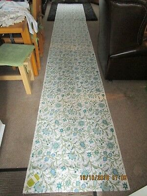VINTAGE FABRIC BY  SANDERSON - 16 ft x 2.5 ft with Label   Great Usable Length