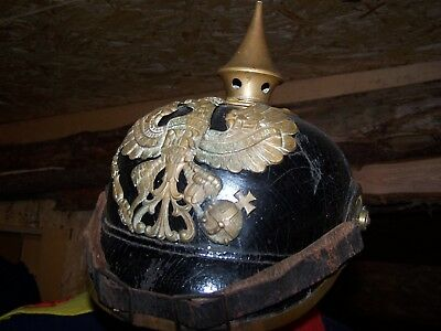 Ww1 Allemand German Casque A Pointe Morhange Moerchingen I R 131