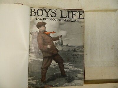 BOY'S LIFE MAGAZINES MARCH 1915 to MARCH 1916