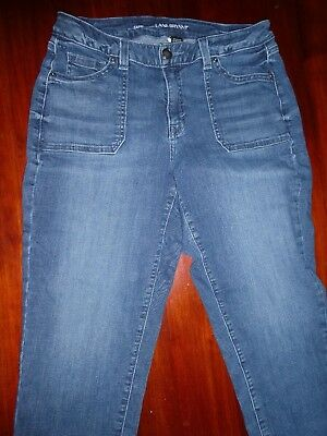 Womens Lane Bryant Faded Capri Blue Jeans Size 14