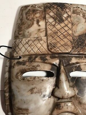 """Mexican Mayan Aztec Stone Carved Mask 12"""""""