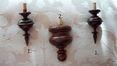 WOODEN FINIALS,TURNED TO THE ANTIQUE CLOCK BECKER ... No.33