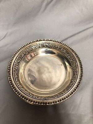 Vintage Reed & Barton 1201 Silver-Plated Serving Bowl Ornate Antique