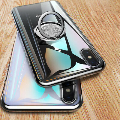 Luxury Magnetic Finger Ring Holder Stand Case Cover For iPhone X XS MAX XR 7 8 6