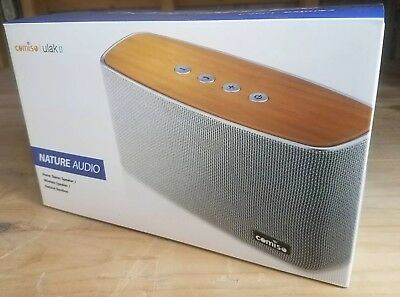 COMISO 30W Bluetooth Speakers with Super Bass, Bamboo Wood Home Speaker D23