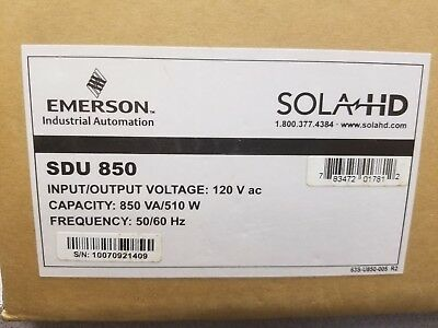 SOLA Heavy-Duty SDU 850 Offline UPS 120V 50/60Hz 510W 850VA DIN MTG Sealed Box