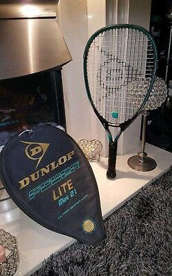 Dunlop power lite mini 21 ultra super lite Squash Racket with case l@@k