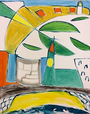 Just St Ives By Nigel Waters New! Oct 17 Abstract Original Acrylic Painting