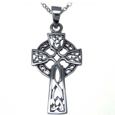 BJC® Sterling Silver Celtic Cross Small Pendant /& Optional Silver Necklace