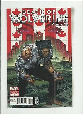 Death of Wolverine #2 Steve McNiven Canadian Variant Cover (VF+) condition