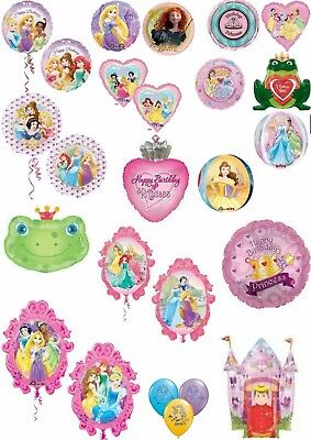 Princess (inc Disney) Balloons Party Ware Decoration Novelty Gift Helium Foil
