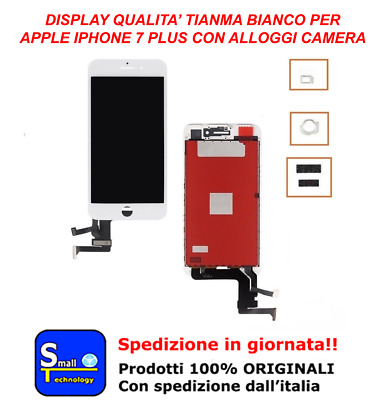 Display Lcd Touch Screen Nero Apple Iphone 7 Plus Tianma Vetro Schermo Bianco