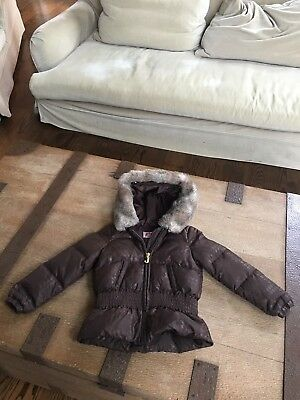 juicy couture kids big girls Brown puffer down jacket - coat size 6