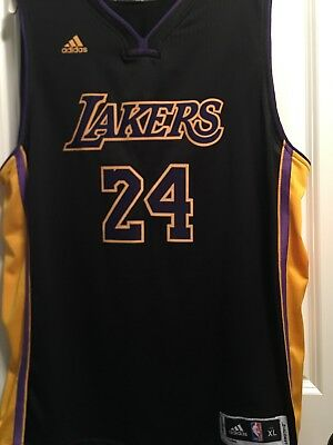 9112eef44df Vintage Los Angeles Lakers Kobe Bryant NBA Jersey Men XL Adidas Black Mamba   24
