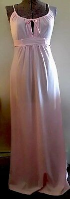 Vintage 1970s Pale Pink Empire Waist Maxi Dress - Size Small