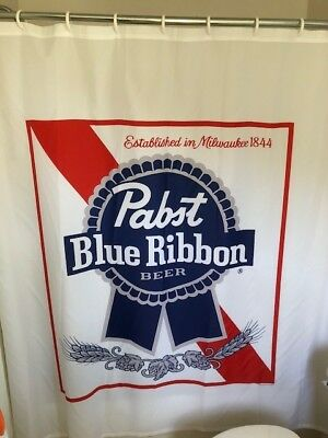 Pabst Blue Ribbon Shower Curtain PBR-Brand NEW