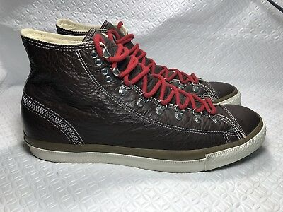 2a169056d9f7 CONVERSE ALL STAR Men s Brown Leather High Top Basketball Shoes Size ...