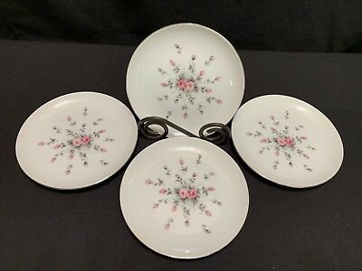 "Harmony House ""ROSEBUD"" Pattern #3534 ~ Set of 4 ~ Bread Plates ~ 6 1/8"""