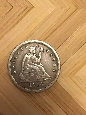 1844 O Seated Liberty Quarter 25C New Orleans Mint