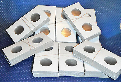 200 2X2 Cardboard coin Holders Flips, **For 25 Cents 25mm**