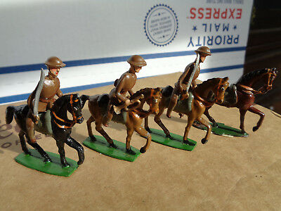 Heyde or similar 45mm US ww1 Army cavalry lot of 3 1918 soldiers vintage lead JL