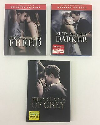Fifty Shades 3 Disc DVDs Movie Blu-Ray Grey Darker Freed