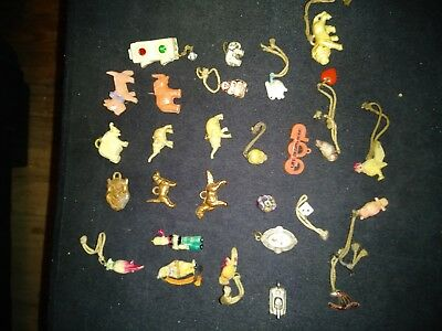 Vintage Lot 28 Cracker Jack Gumball Prizes Czech Glass