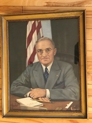 HARRY S. TRUMAN  33rd President of the United States  Autograph  Signed Portrait