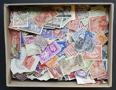 GB All Reigns Unchecked Stamps in Shoe Box. Many Thousands