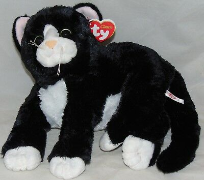 6924c341658 New! Ty Classic SHADOW Black   White Kitty Cat Medium Buddy 9