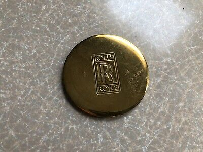 Vintage Rolls-Royce Motor Cars Brass Paper Weight or Drink Coaster