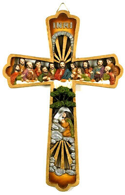 Last Supper Wall Cross Jesus Christ with His Disciples 10 1/4 Inch NIB (VS196)