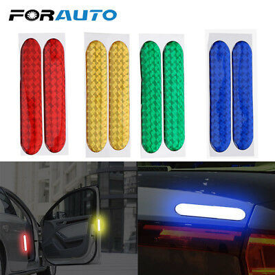 Car Door Sticker Decal Warning Tape Car Reflective Stickers Reflective Strips 2p