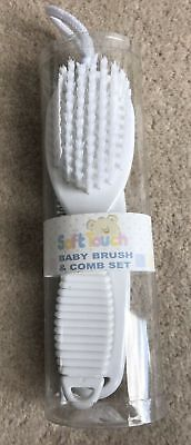 Baby Soft Hair Brush and Comb Set in Baby Blue