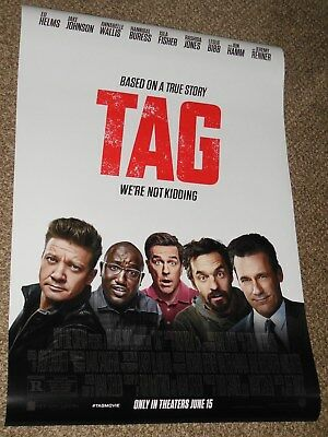 "Tag ""B"" vg 27x40 Original D/S Movie POSTER Ed Helms Jon Hamm Jeremy Renner"