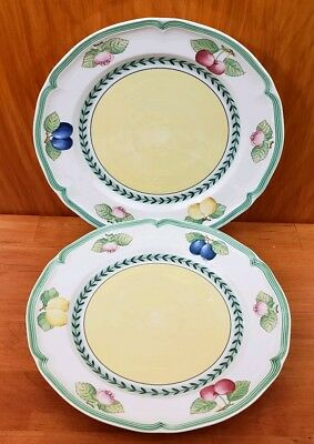 "2 Villeroy & Boch French Garden Fleurence 1748 Dinner PLATES 10.5"" Germany"