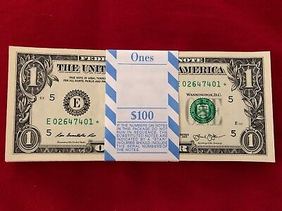 MULTIPLE ERROR ONE (1) ✯ STAR NOTE $1 Dollar CRISP UNC SEQUENTIAL from BEP PACK