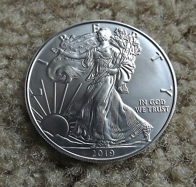 2019 1 oz AMERICAN SILVER EAGLE BRILLIANT UNCIRCULATED DOLLAR