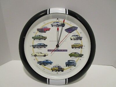 American Muscle Wall Clock Legends of the Road Vintage Cars with Sounds