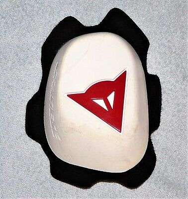 Dainese Knee Slider White With Red Logo Only This (Spare) One Is For Sale