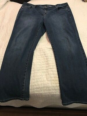 LANE BRYANT * Womens GENIUS FIT STRAIGHT Blue Jeans * Plus Size 22
