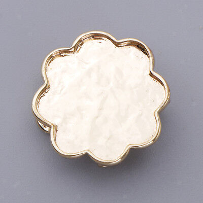 Flower Blank Brooch Settings Cabochons Base Tray DIY Jewelry Making Findings