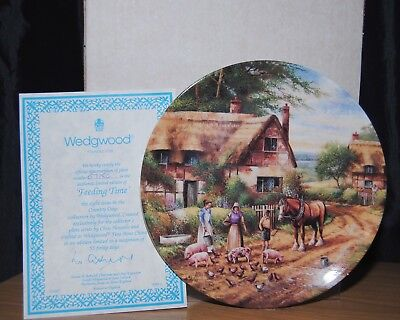 Wedgwood Country Days Collection Feeding Time Collector Plate Boxed