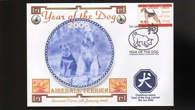 Year Of The Dog Stamp Illustrated Souvenir Cover, Airedale Terrier 3