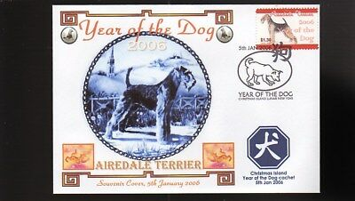 Year Of The Dog Stamp Illustrated Souvenir Cover, Airedale Terrier 1